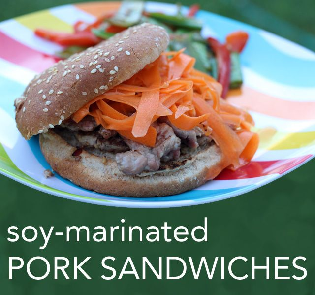 Soy-Marinated Pork Sandwiches -- Super fast and quite tasty