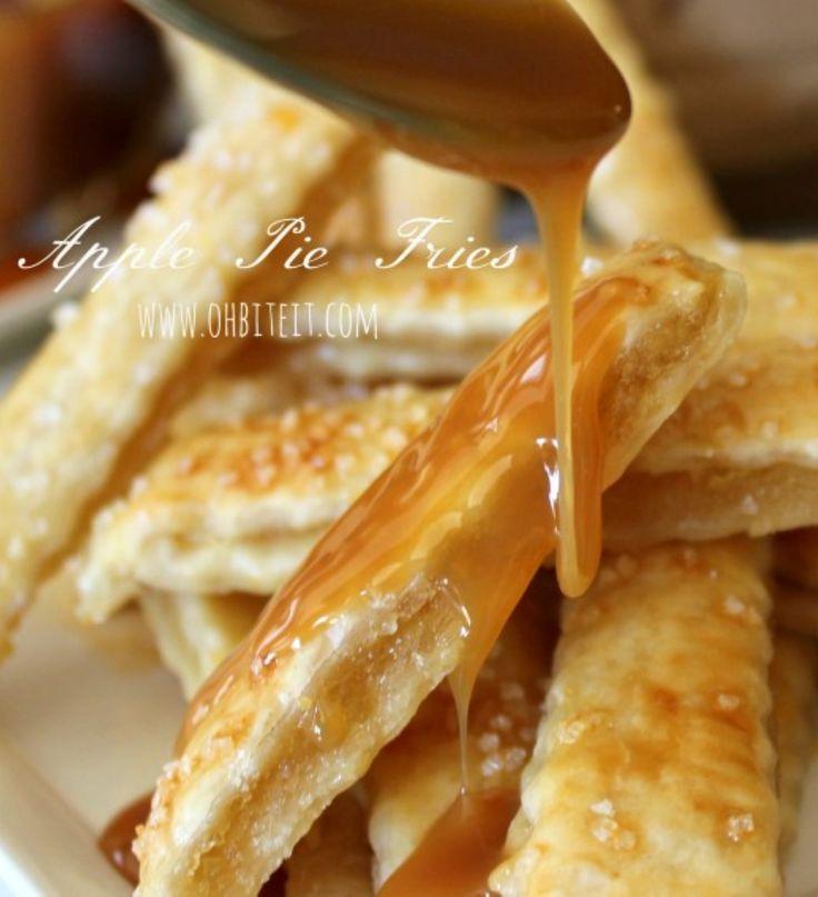 ... Apple Pie Fries via Oh Bite It #hibernating #fall