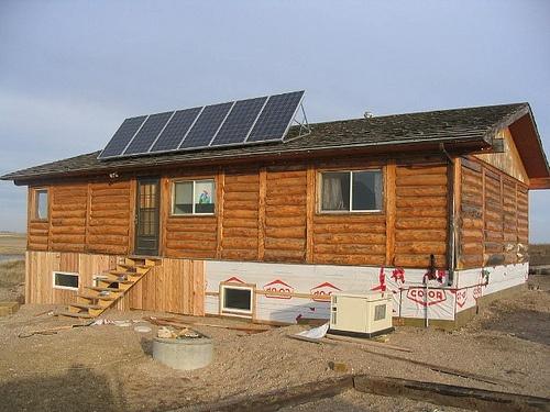 Solar Panels Log Cabin House Future Home Pinterest