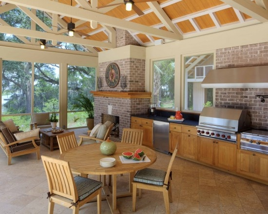 screened in outdoor kitchen for the home pinterest On screened in outdoor kitchen