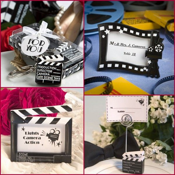 movie themed wedding favors place card frame favors