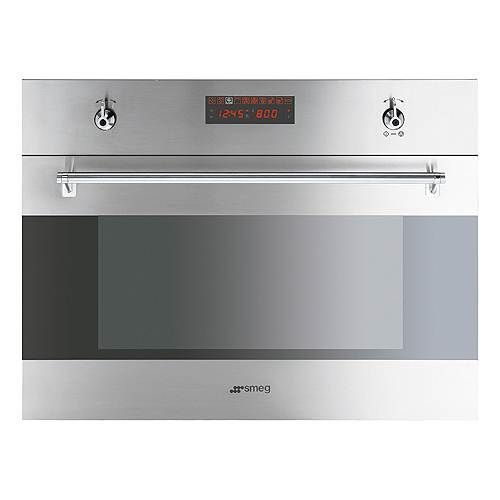 Smeg 24 inch built in speed oven with 1000 watt microwave for 24 inch built in microwave stainless steel