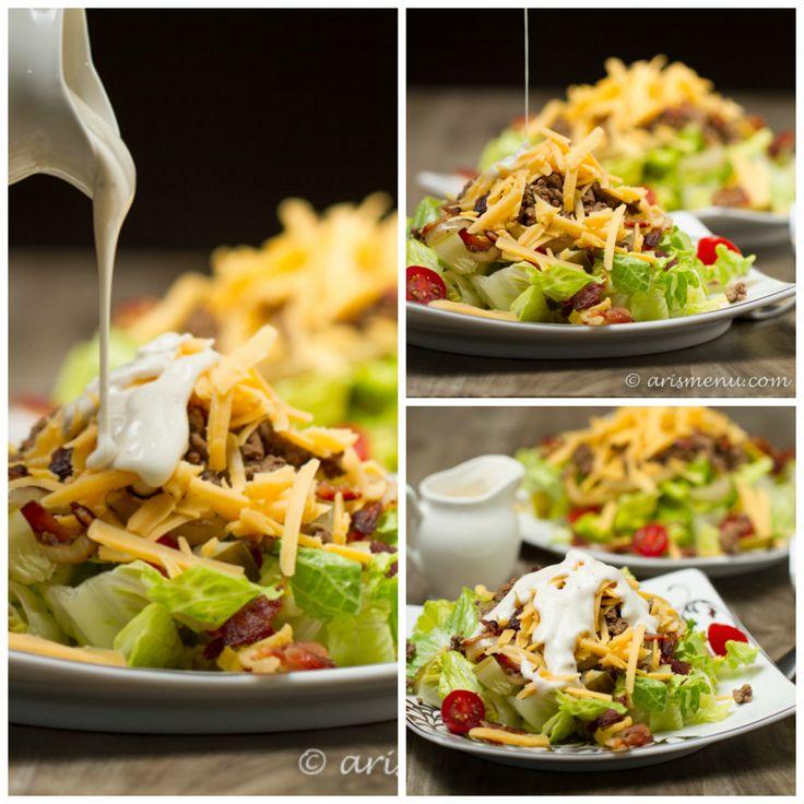 Bacon Cheeseburger Salad: A quick & healthy way get your burger fix!