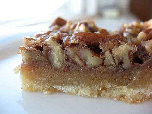 Maple pecan sticky bars (Like this one) | Desserts | Pinterest