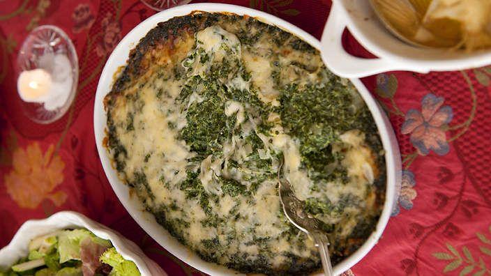 myrecipes com spinach gratin pasta and spinach gratin spinach gratin ...