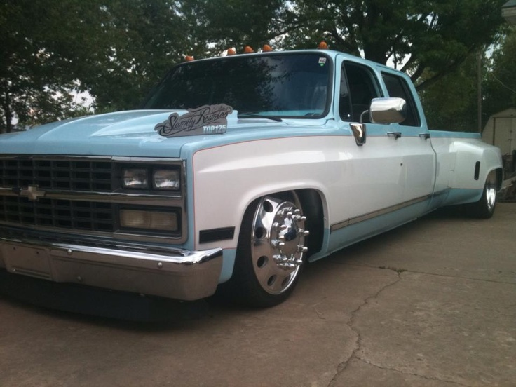 dropped chevy dually pictures