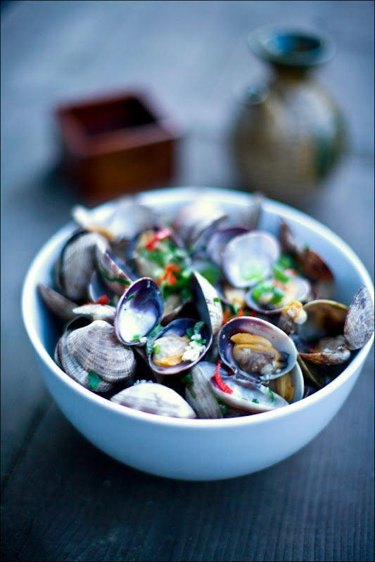 yummly sake steamed clams appetite for china sake steamed clam butter ...