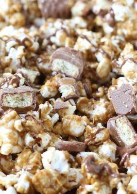 Twix Caramel Popcorn Recipe on twopeasandtheirpod.com We LOVE this ...