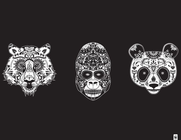 Animal sugar skull tattoo - photo#10