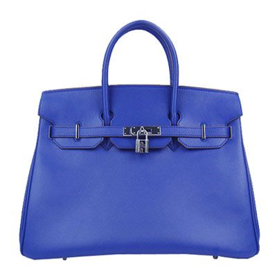 hermes birkin H6026b 35cm handbags royal bluesilver