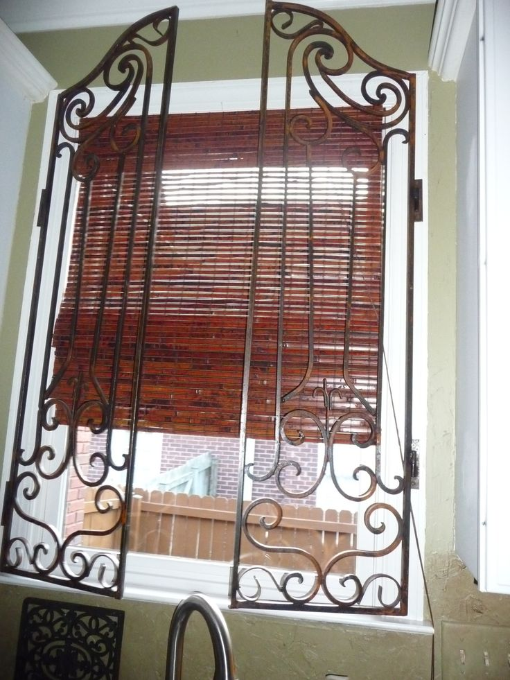 Iron Shutters Made For Kitchen Window House Pinterest