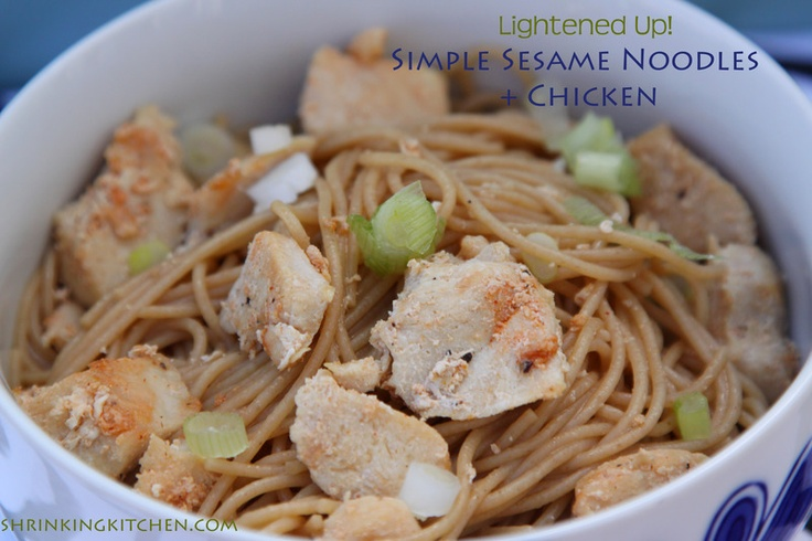 Lightened Up {Pioneer Woman} Simple Sesame Noodles - so easy, so good.