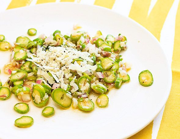 Asparagus Pecorino Onion Salad