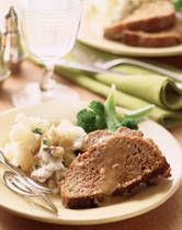 Meatloaf with Mushroom Gravy (I left the egg out and substituted ...