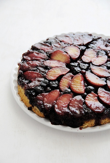 Scrumptious-looking Orange-scented Plum-Blueberry Upside-Down Cake!