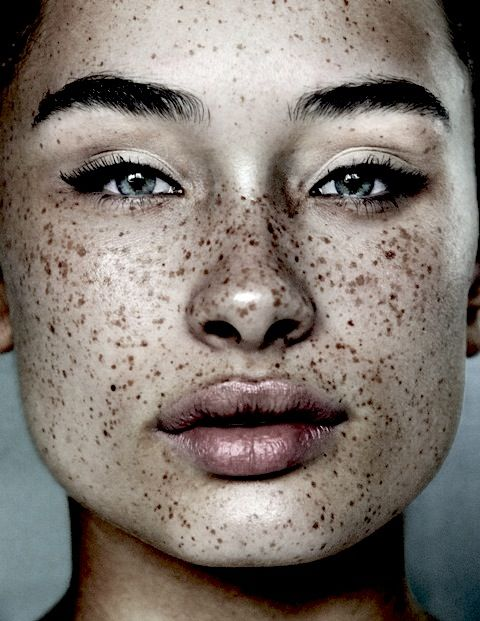freckles. I love these! Reminds me of my son and now Savannah's face. Very beautiful without makeup.