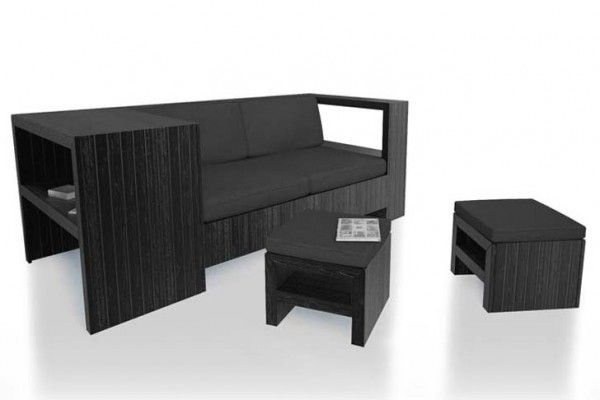 Modern Recycled Wood Pallet Furniture You Can Keep Indoors #DIY #inspiration #black