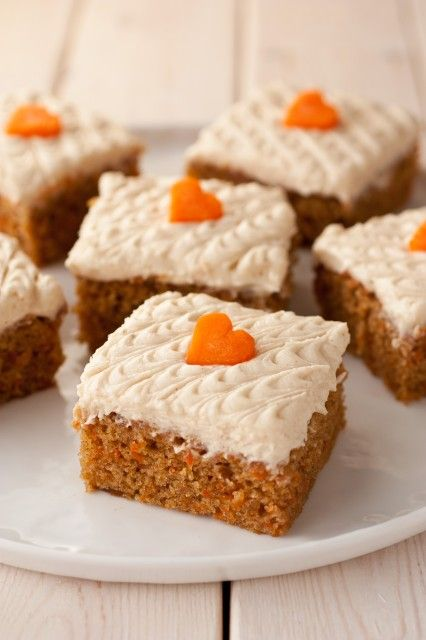 carrot cake bars with browned butter cream cheese frosting - so good ...