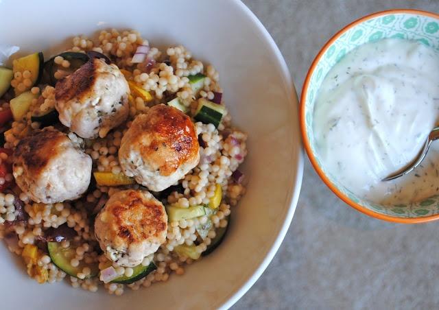 turkey meatballs and israeli couscous | Cheat Day | Pinterest