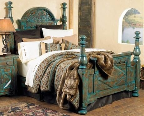 western decor western bedding blue pinterest
