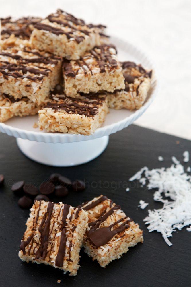 Chocolate-Coconut Rice Krispie Treats Recipe — Dishmaps