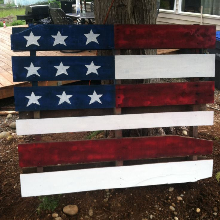 American flag pallet project junk in the trunk pinterest - American flag pallet art ...