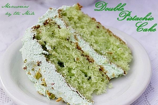 Double Pistachio Cake | Desserts | Pinterest