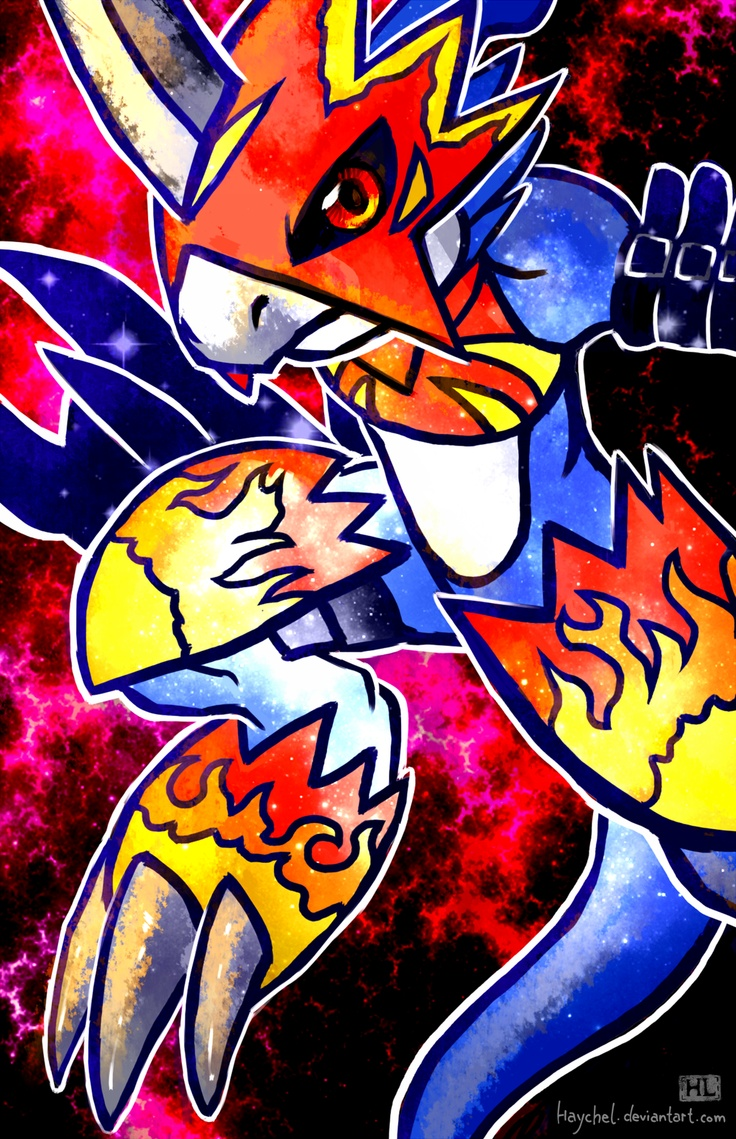 Flamedramon by  Hayche...