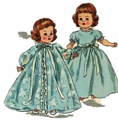 2294 Doll Clothes Pattern for 8 inch Ginny, Muffie, Alexander Kins. A 1950s doll clothes pattern.