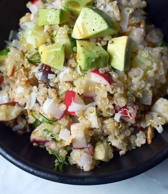 Golden Quinoa Salad with Radish, Dill & Avocado | Recipe