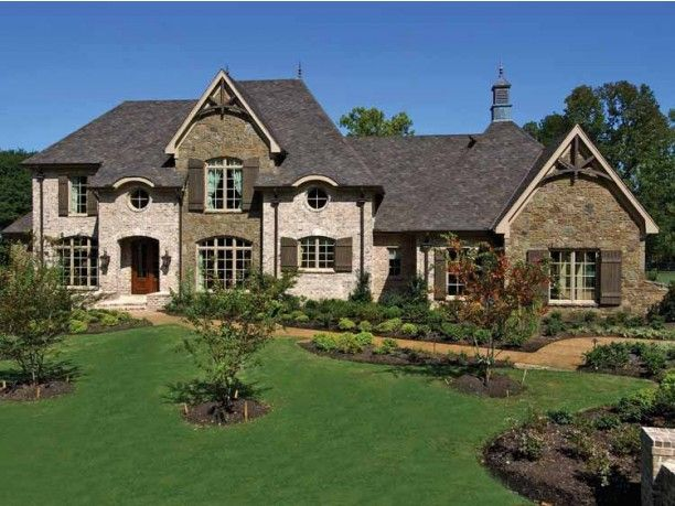 French country house exteriors pinterest for Country home exteriors