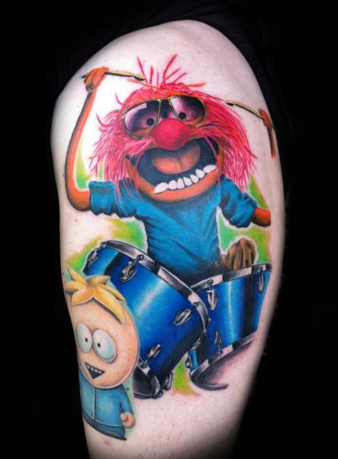animal by greg sumii muppets animal tattoo color southpark tattoos pinterest. Black Bedroom Furniture Sets. Home Design Ideas