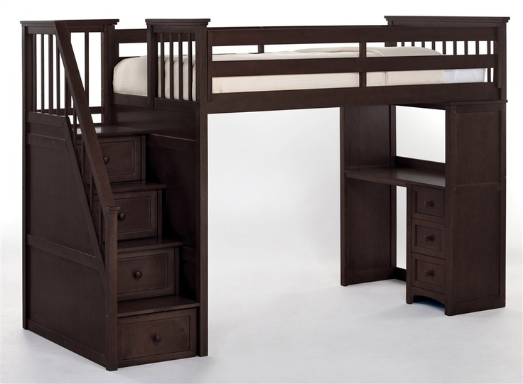 Stairway Loft Bed with Desk 736 x 541