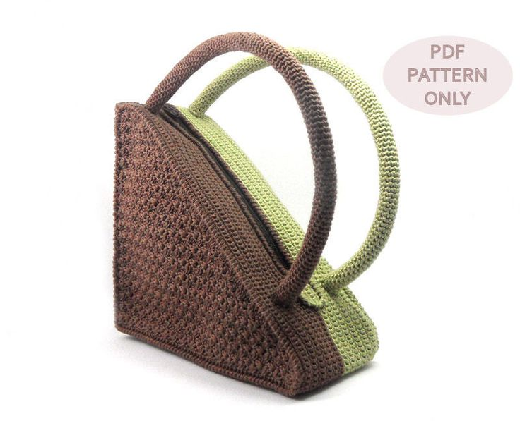 Crochet Purses And Bags : Crochet Pattern Triangle Bag. I really need to take up my crochet hook ...