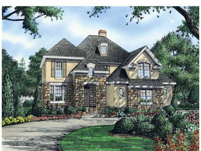 Front two story cottage plan floorplans pinterest 2 story cottage house plans