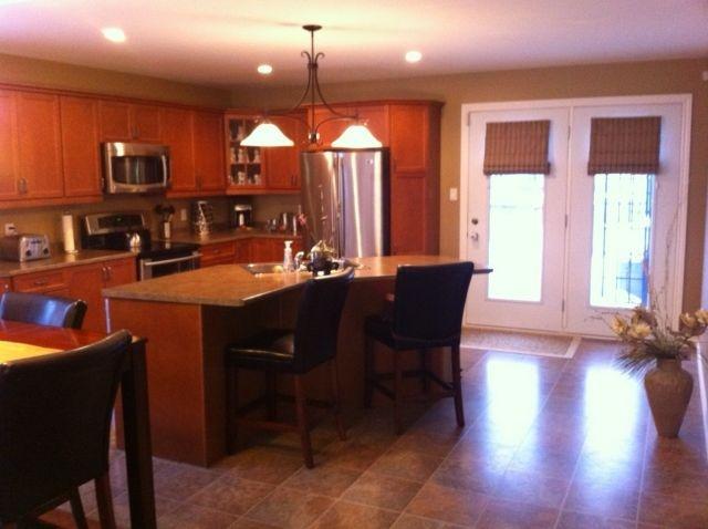 Kitchen with patio doors kitchen ideas pinterest for Kitchen designs with patio doors
