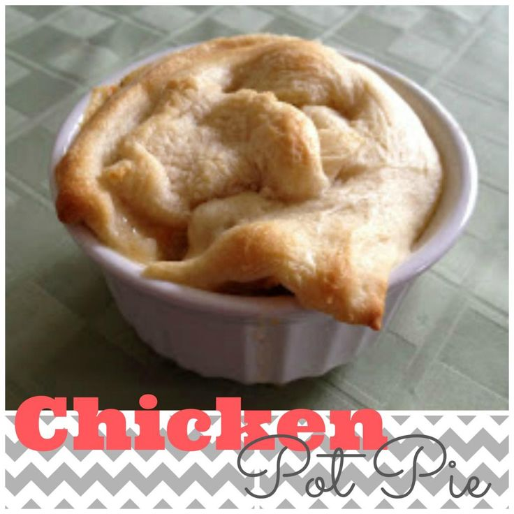 Skinny Chicken Pot Pie- only 4 ingredients and so yummy!