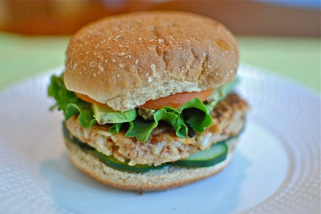 Vegan pinto bean and rice burgers. Scallions give a satisfying crunch ...