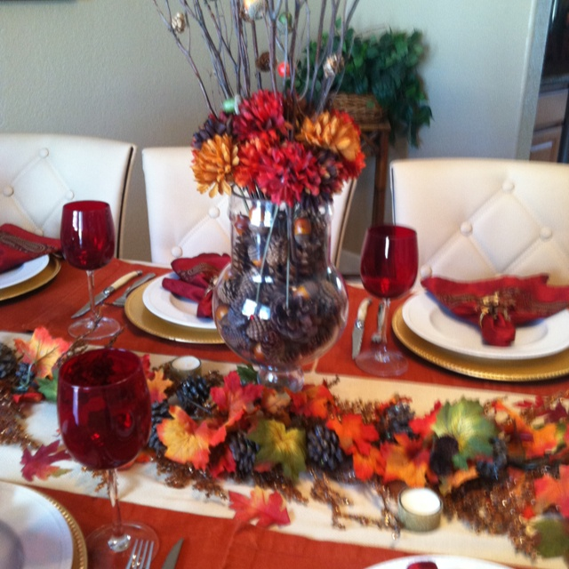 thanksgiving table decorations pinterest. Black Bedroom Furniture Sets. Home Design Ideas