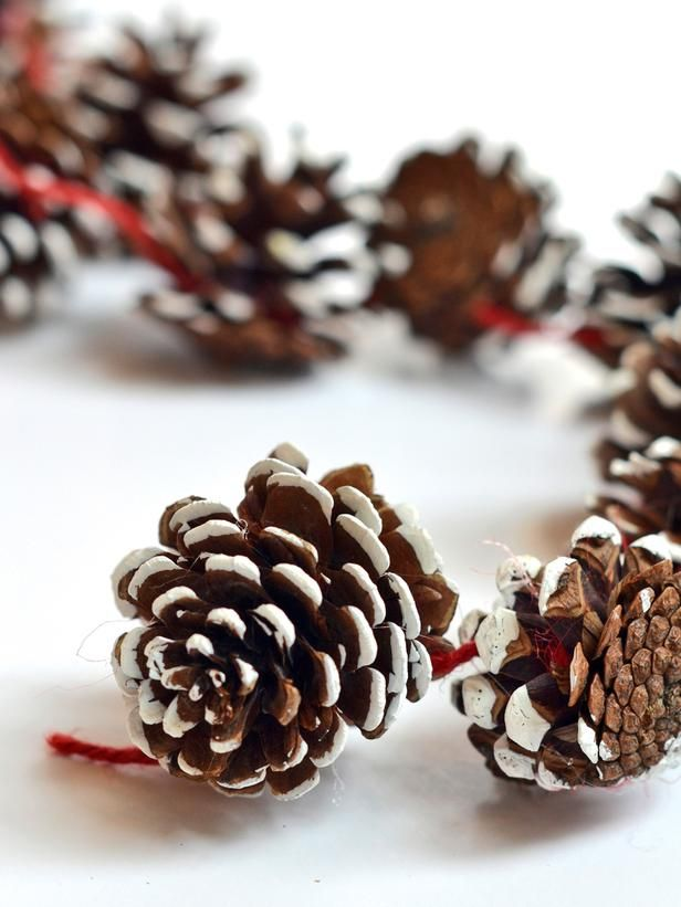 Diy holiday pinecone garland - Bricolage de noel pour adulte ...