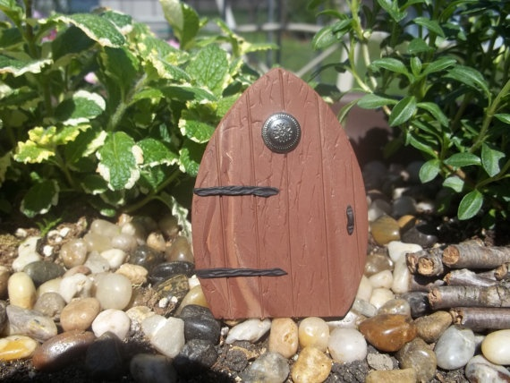 Miniature Fairy Door faux wood finish perfect by smalloldthings, $6.00