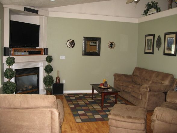 Room with earth tones painted on the walls living rooms design