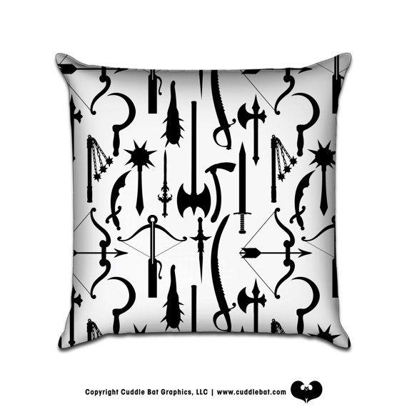 Weapons original pattern sofa throw pillow whole by cuddlebat 35 00