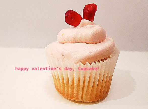Orange Vanilla bean Cupcakes with Pomegranate Hearts ...whipping up a ...