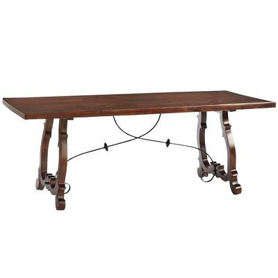 Indira Trestle Dining Table Like The Bench Style And The Intricate