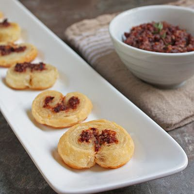 Savory Mini Palmiers...Two ingredients...puff pastry dough and ...