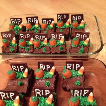 My version of Halloween Brownies / Tombstone Brownies for playgroup. I ...