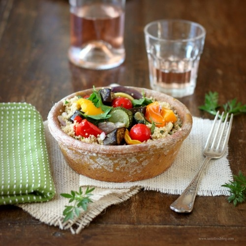 ... wait to try this--Roasted Provencal Vegetable Salad with Couscous