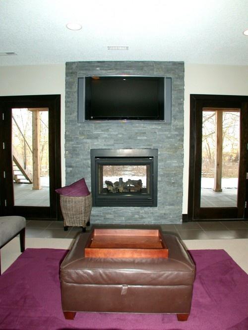 See Through Fireplace House Stuff Pinterest