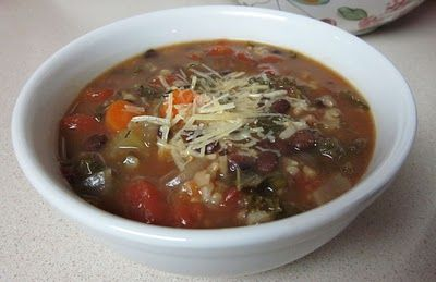 Karen's Vegan Kitchen: Slow Cooker Black Bean Soup with Kale & Rice